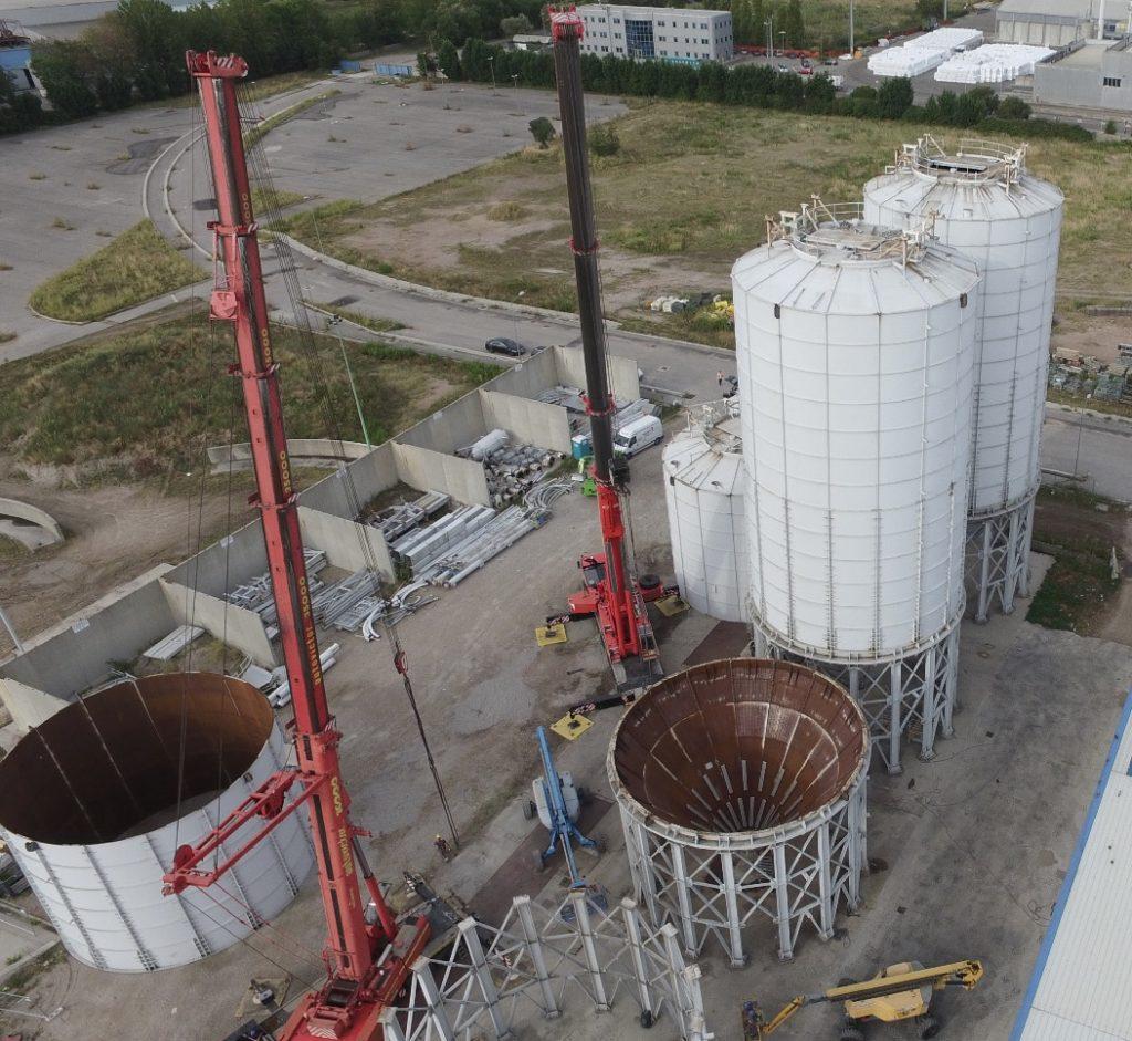 ispezioni silos con droni