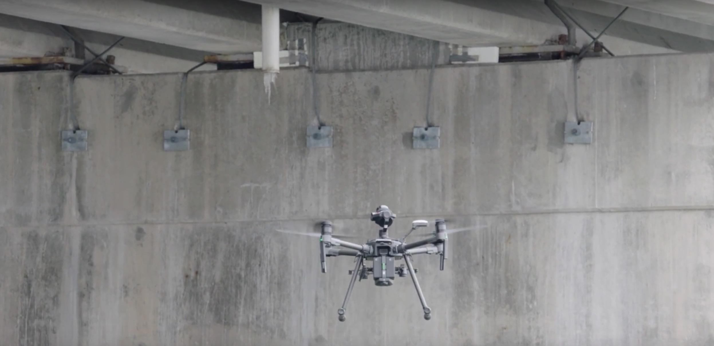 ispezione ponti e viadotti con droni