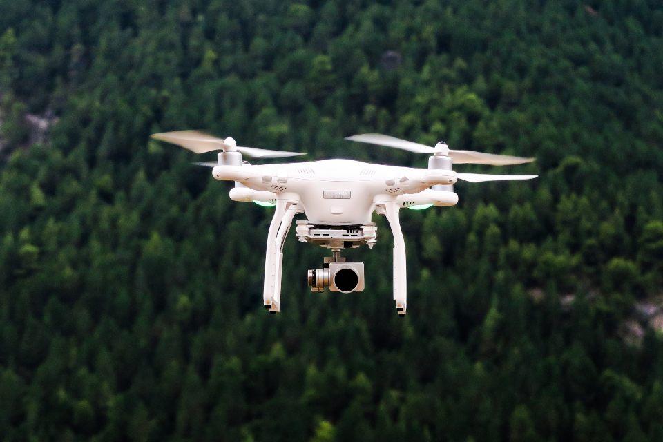 riprese aeree con drone in città