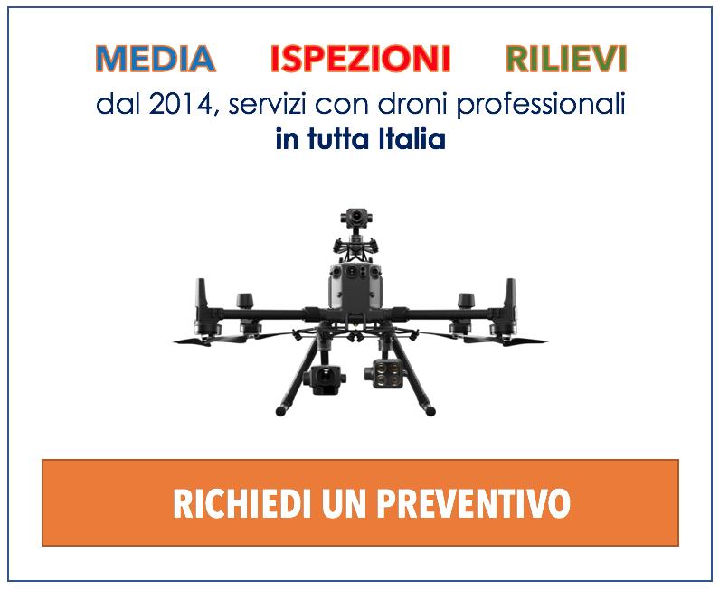 servizi con droni dal 2014