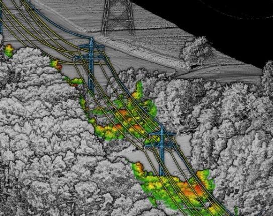 Rilievi LIDAR su linee di trasmissione elettrica