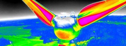 ispezioni aeree di turbine in impianti eolici